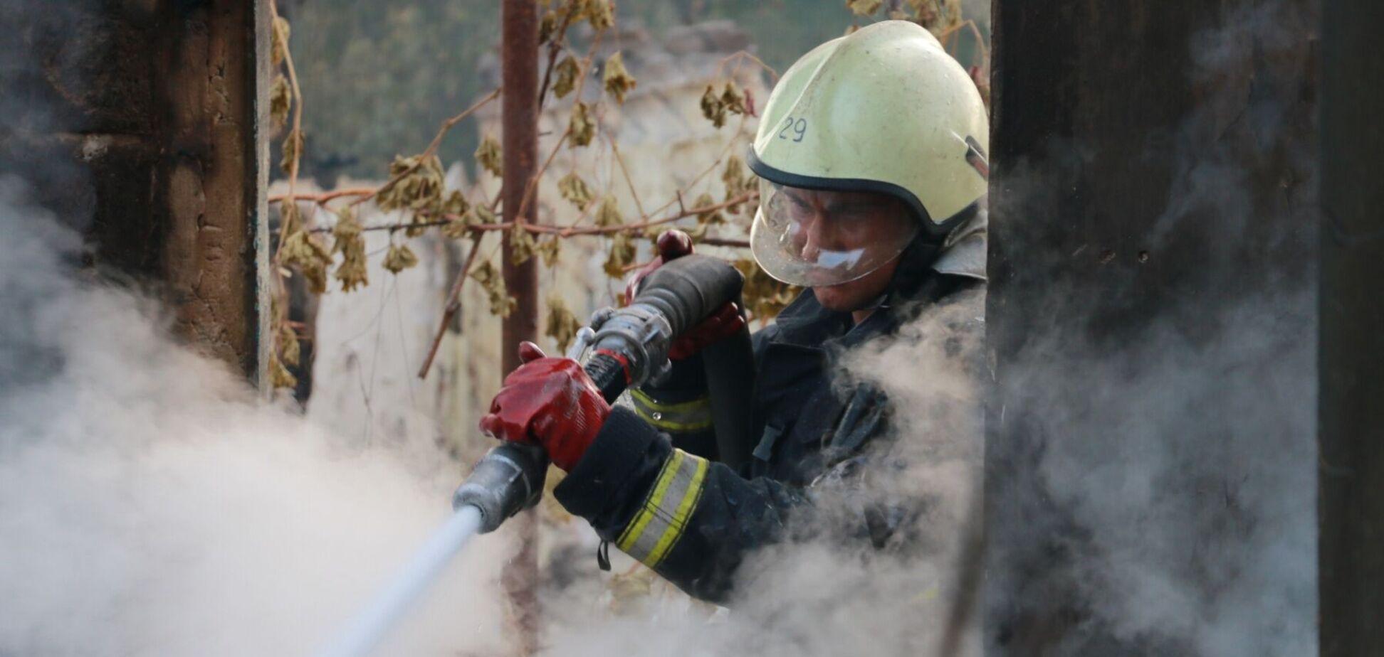 Масштабный пожар в Харьковской области потушили