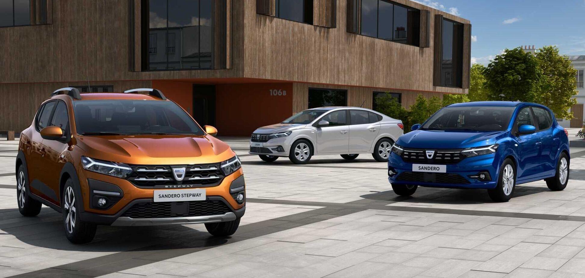 Дизайн Renault Logan, Renault Sandero и Sandero Stepway рассекречен. Фото: Renault