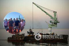 Поднятие танкера Делфи