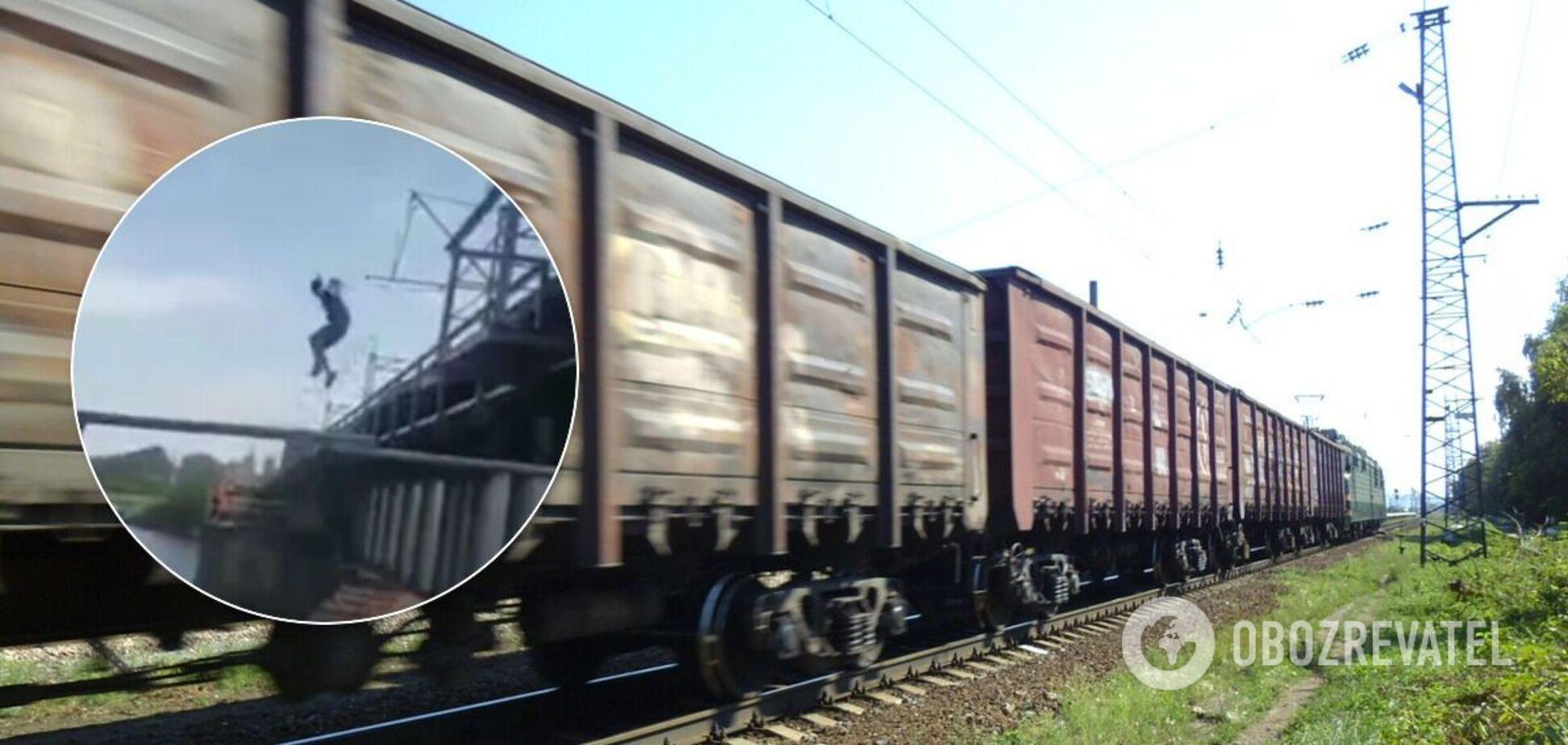 На Днепропетровщине подросток спрыгнул с поезда в реку и чудом выжил. Видео
