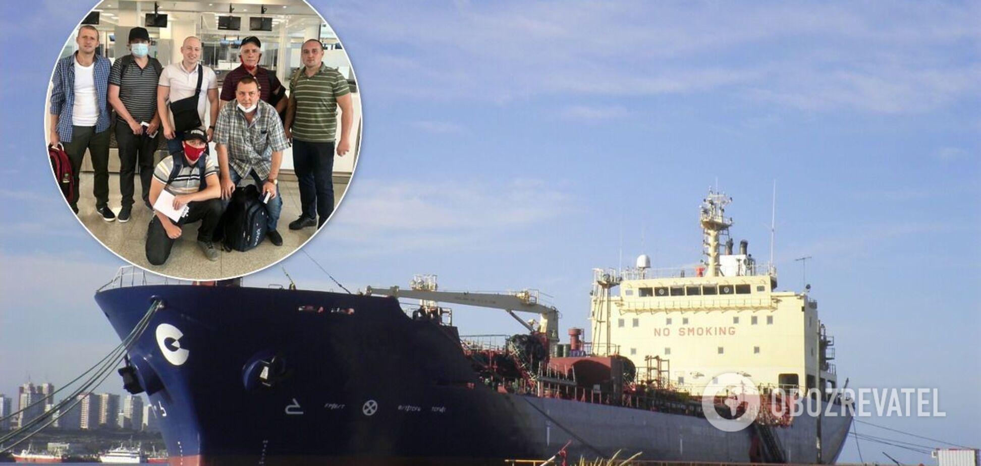 Украинские моряки из Curacao Trader