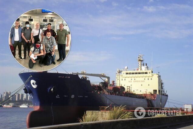 Українські моряки з Curacao Trader