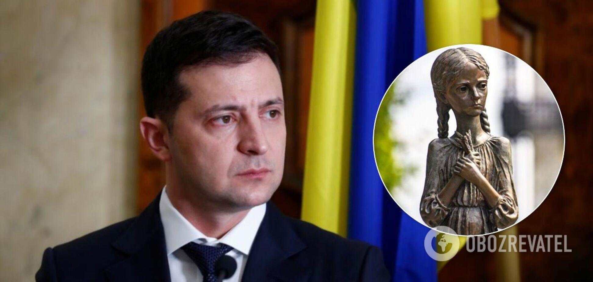 Володимир Зеленський відреагував на акт вандалізму біля меморіалу Голодомору