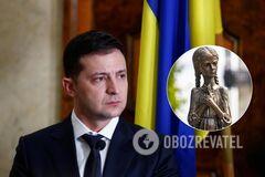 Владимир Зеленский отреагировал на акт вандализма у мемориала Голодомора
