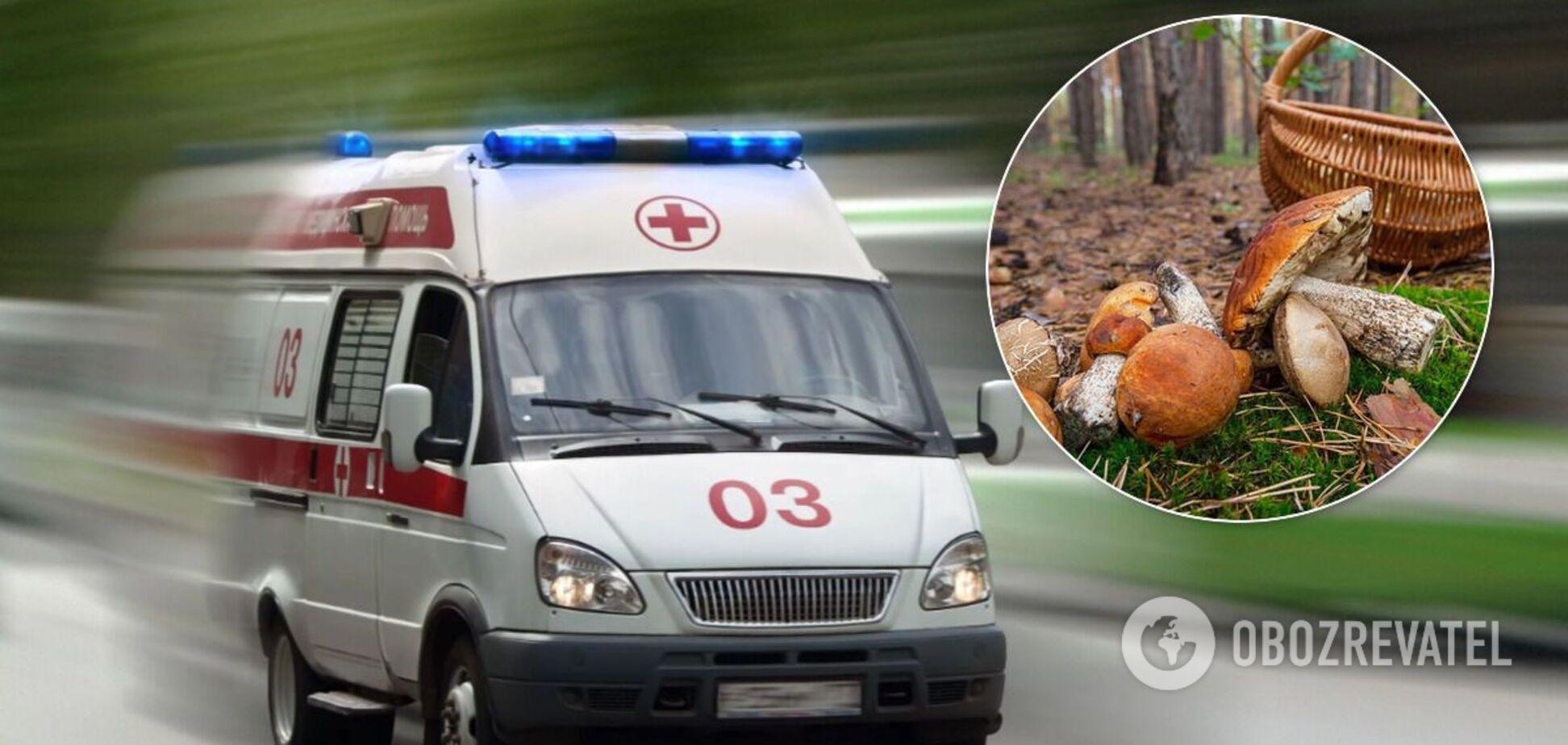 Під Дніпром сім'я потрапила до лікарні через отруєння дикими грибами