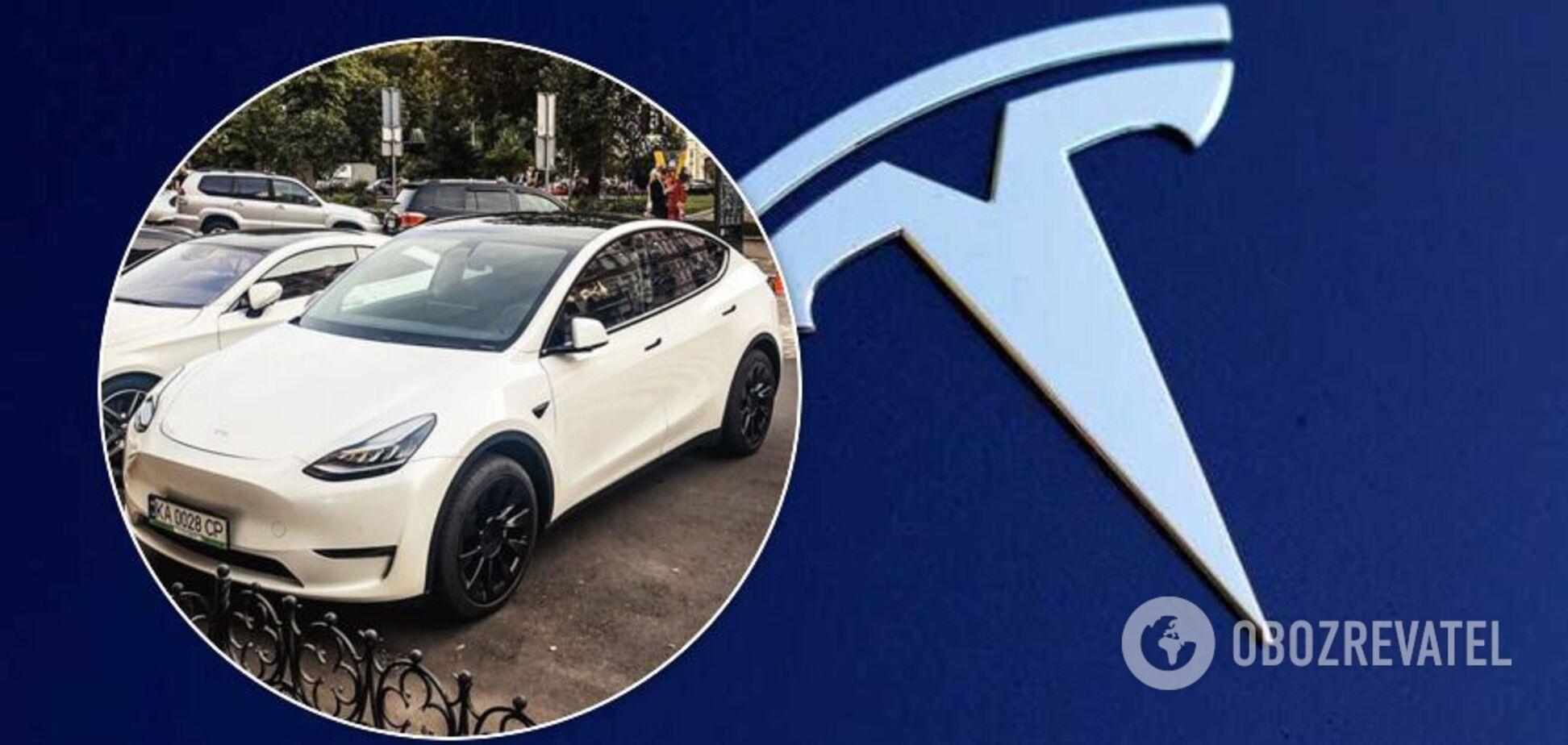 Украинская Tesla Model Y попала на фото