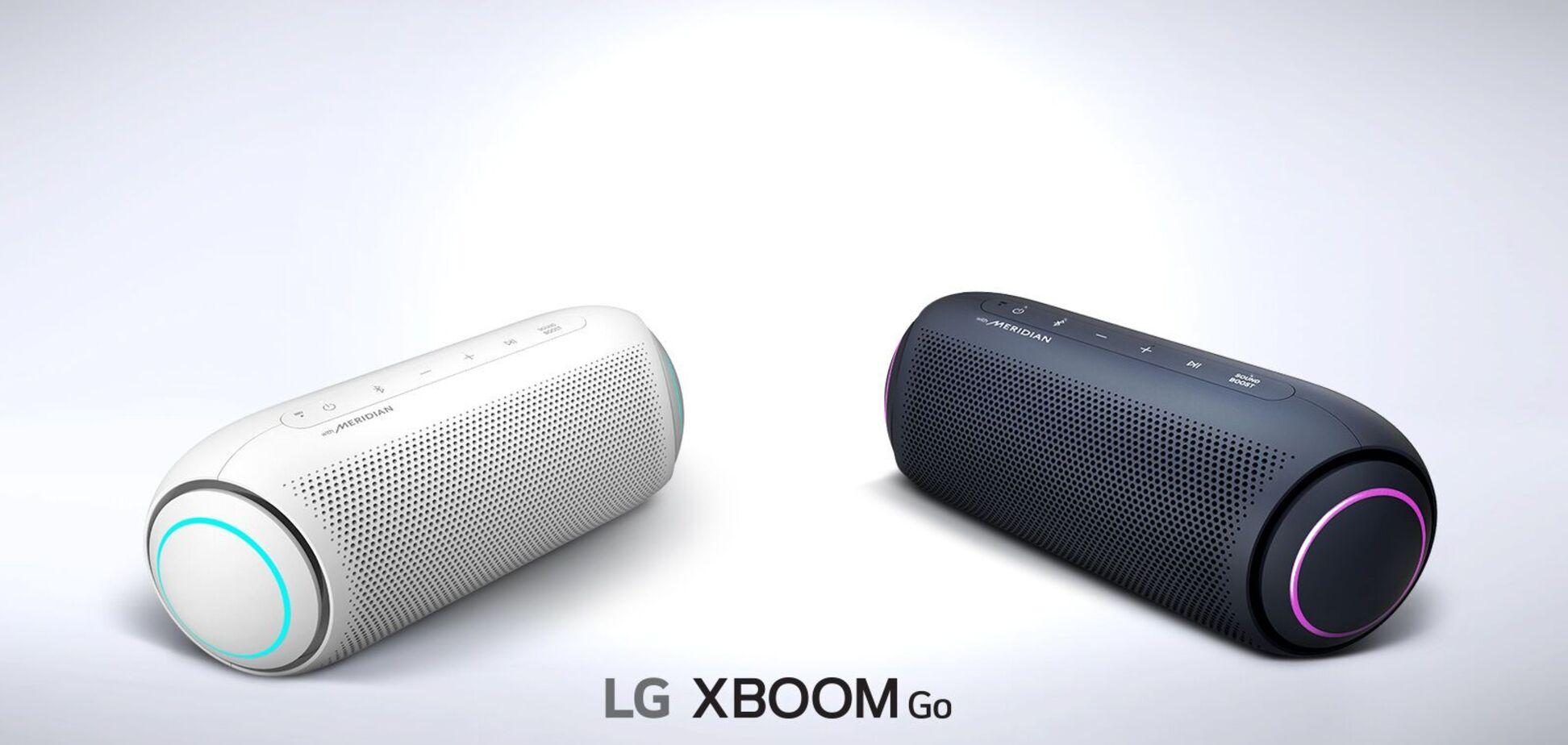 LG представила нові портативні колонки XBOOM GO: 24 години безперервної роботи