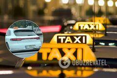 Porsche Macan с табличкой Taxi удивил своим видом