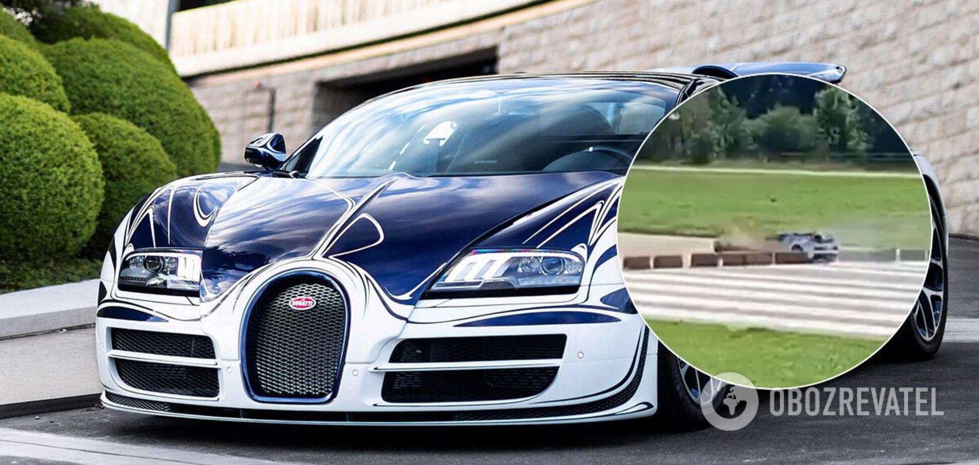 Водитель не успел остановить свою уникальную Bugatti и попал в ДТП