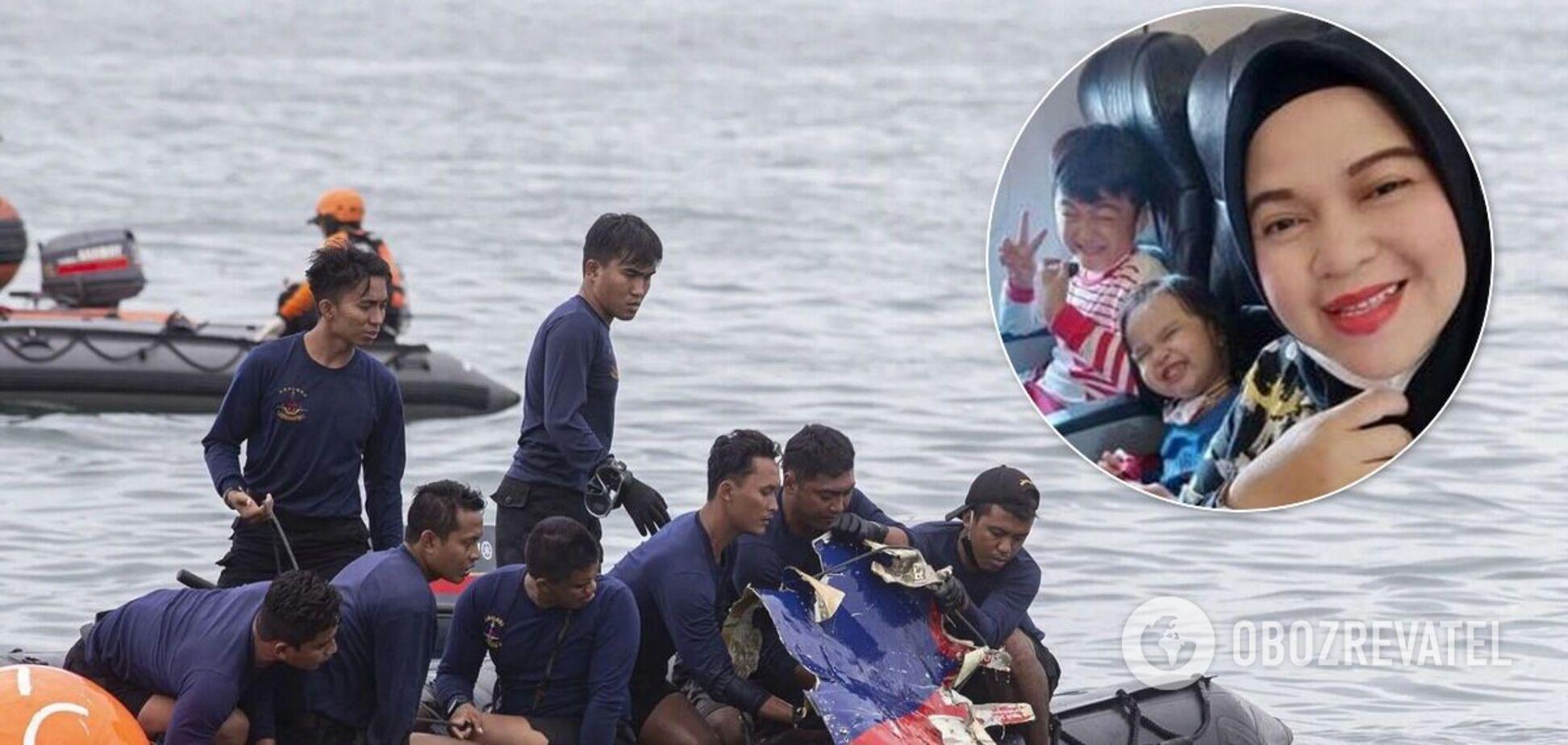 Опубликовано прощальное сообщение матери с детьми, которые стали жертвами авиакатастрофы в Индонезии. Фото
