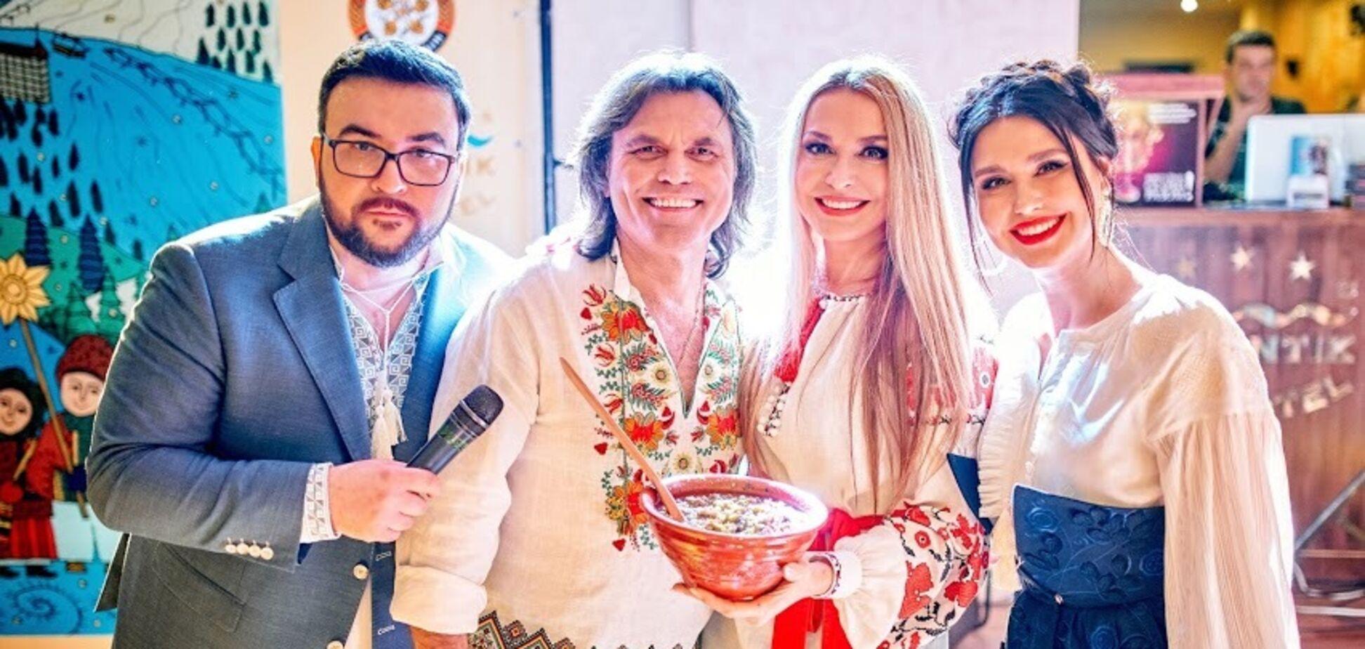 Украинские звезды встретили Рождество в Карпатах, где соревновались за звание лучшего кулинара