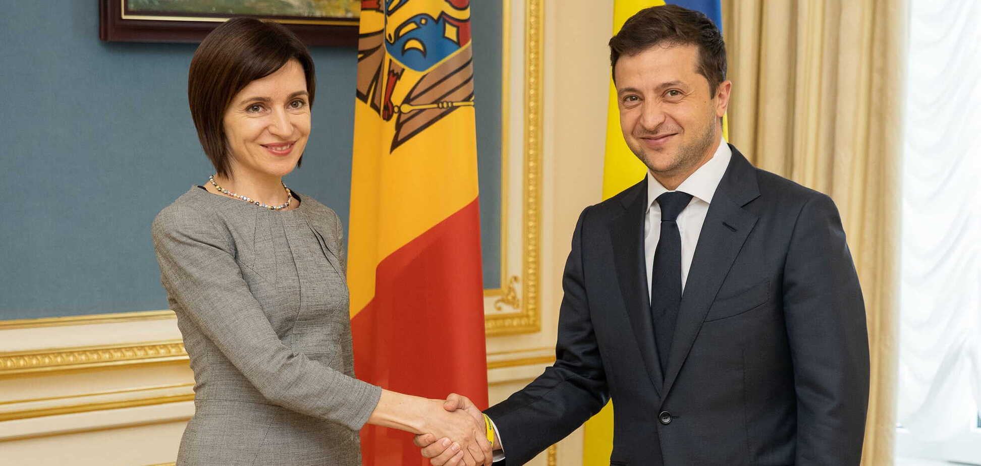 Зеленський провів багатообіцяльну зустріч із президентом Молдови: про що домовилися