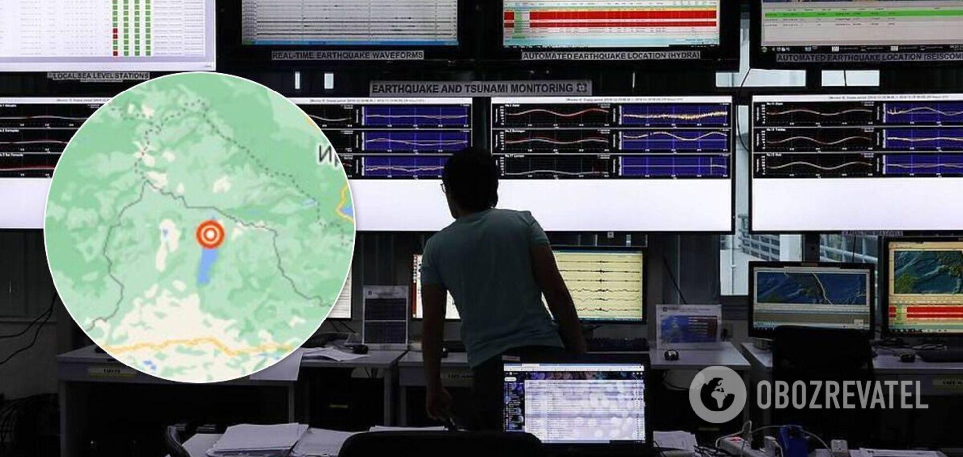 На границе России и Монголии произошло мощное землетрясение. Видео