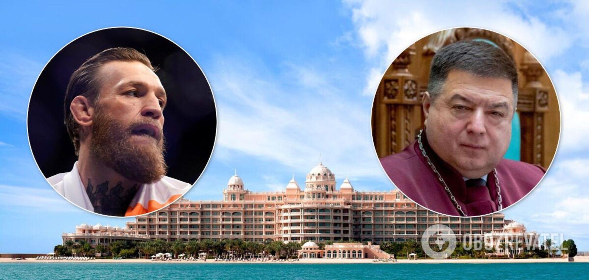 Глава КСУ Тупицкий отдыхает в одном отеле с Конором МакГрегором. Фото из Дубая