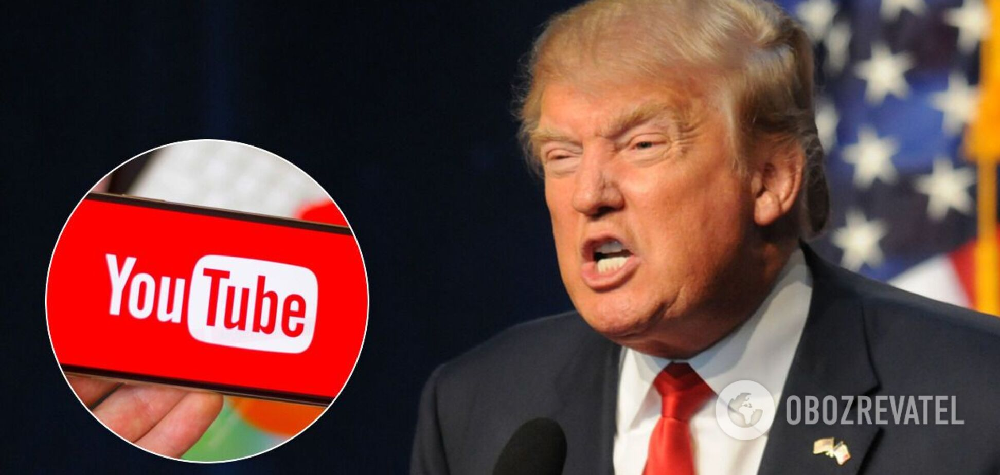 YouTube на час заблокував акаунт Трампа через ризик насильства