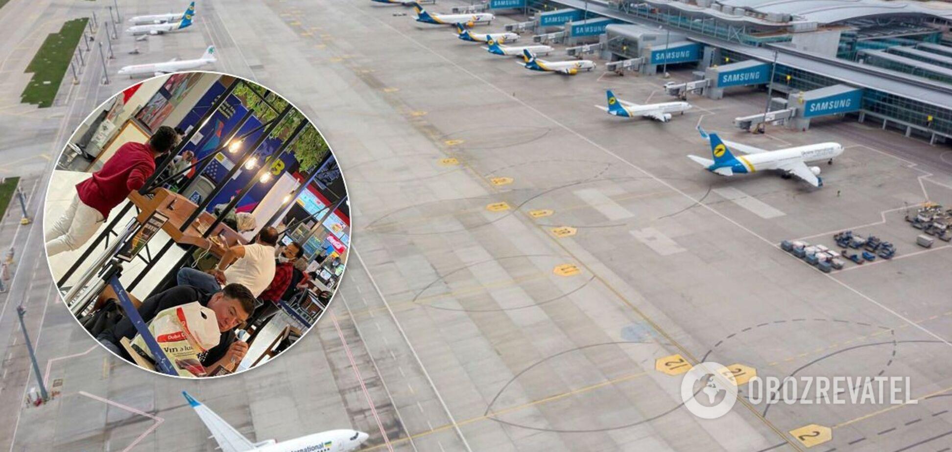 Тупицкий вернулся в Украину без 'шоу'. Фото из аэропорта