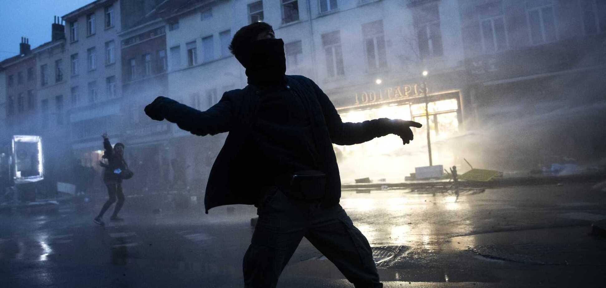 В Брюсселе устроили беспорядки
