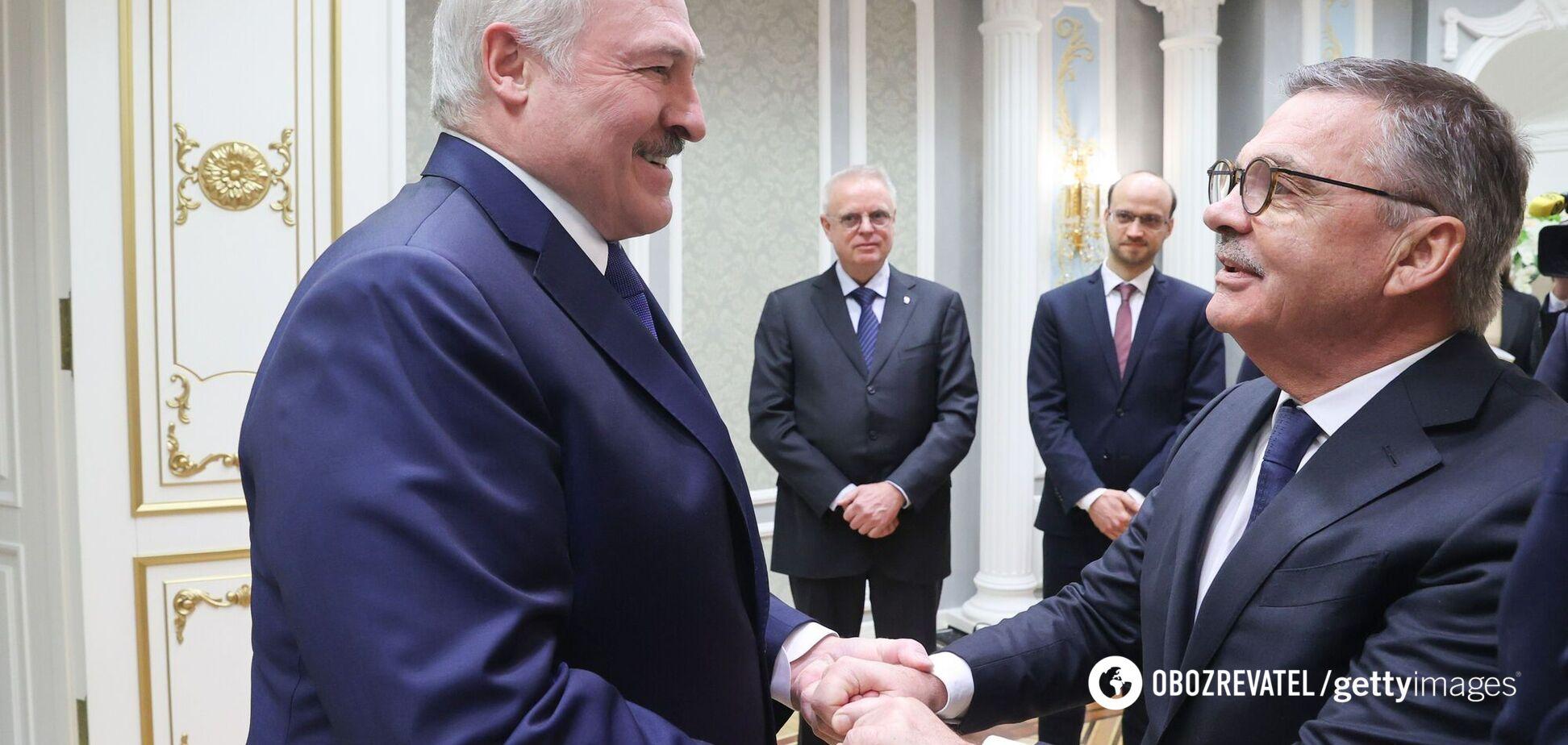 Олександр Лукашенко і Рене Фазель