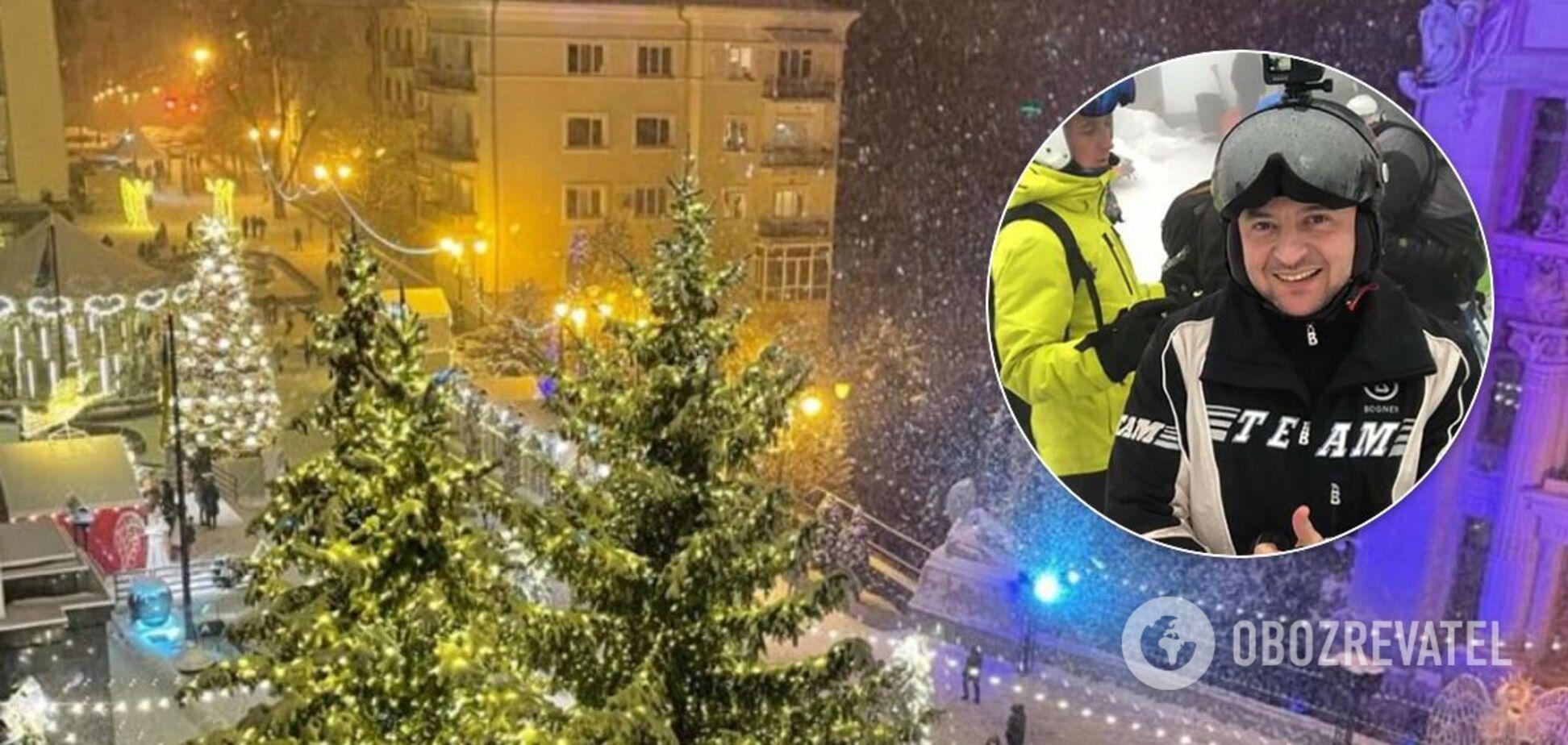 Зеленский поздравил украинцев со снегом и 'настоящим' Новым годом