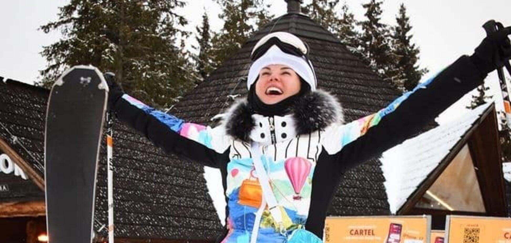Камалия поехала с семьей в Буковель