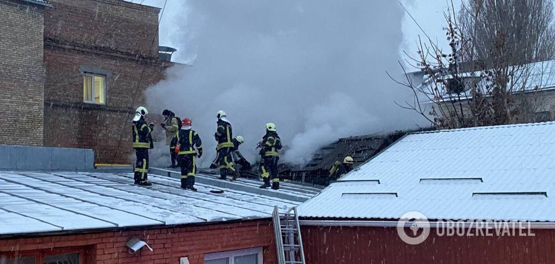 Пожар возник на территории 80 квадратніх метров