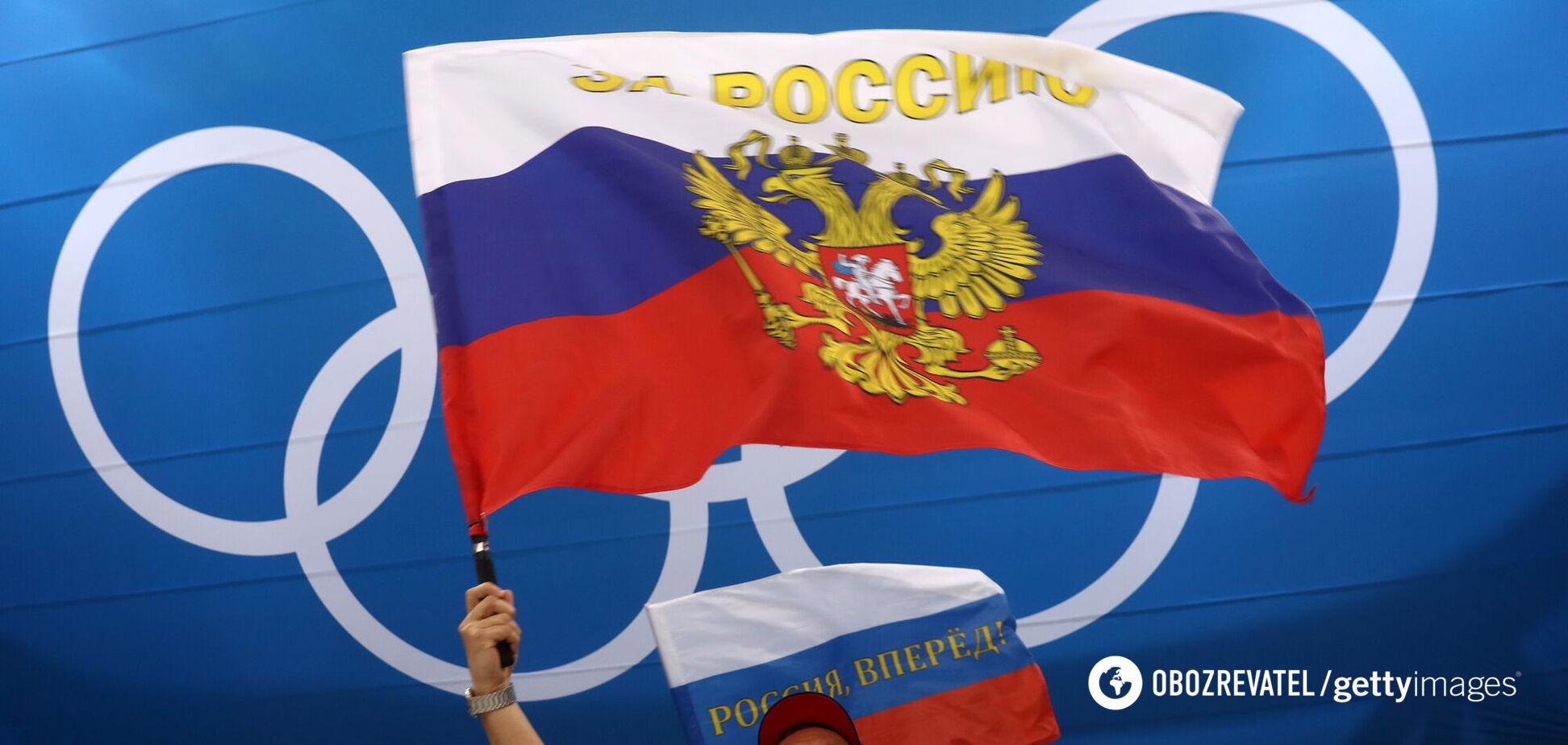 Российский болельщик на Олимпиаде