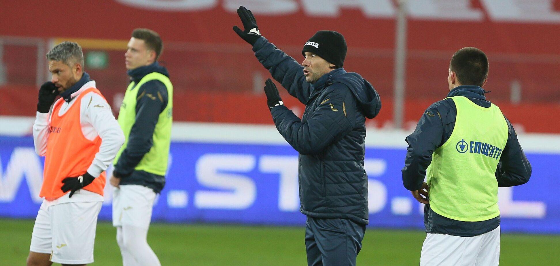 Андрей Шевченко во время тренировки сборной Украины