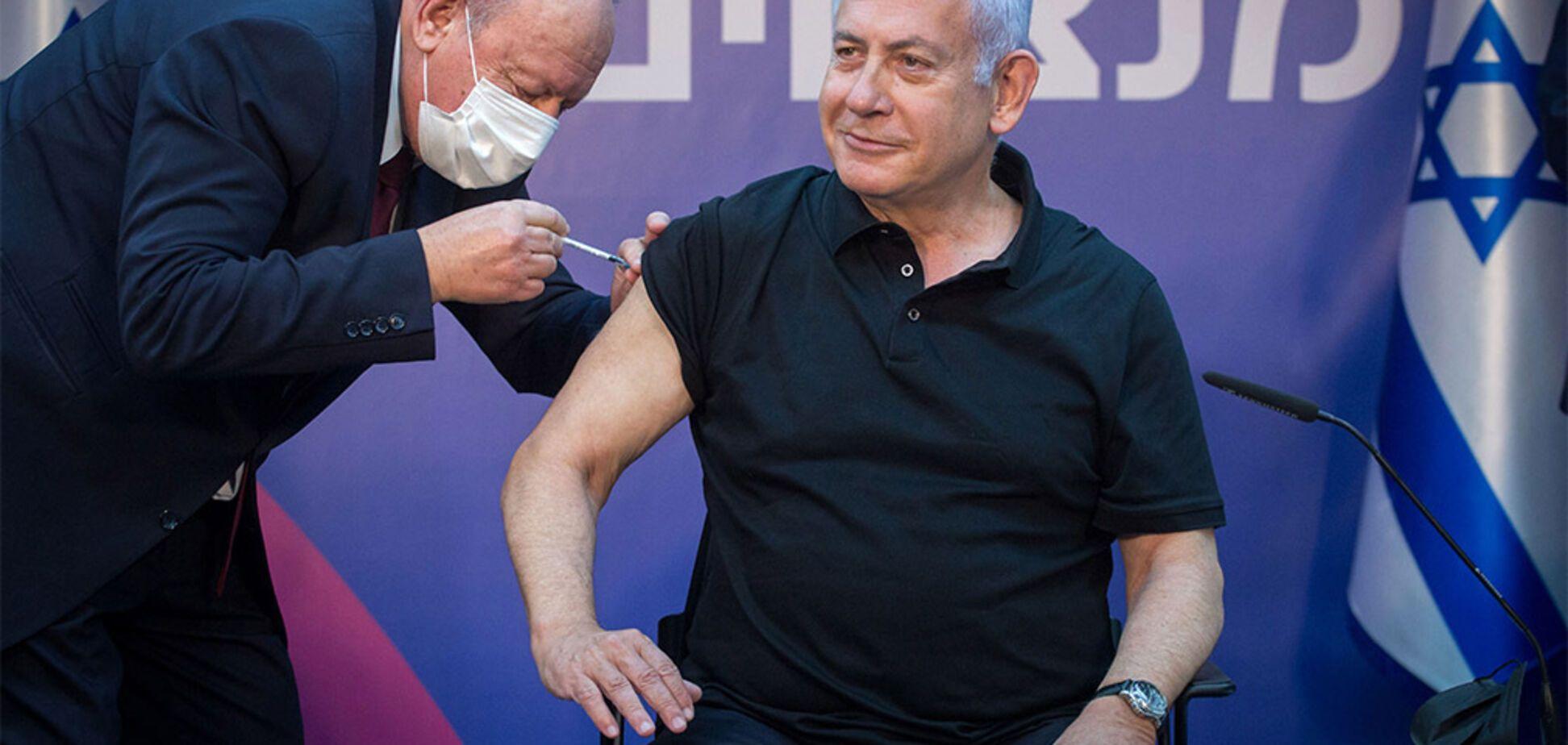 Биньямин Нетаньяху делает прививку от коронавируса