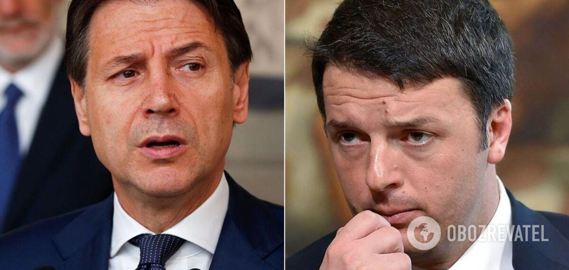 Конфликт между Конте и Ренци обострился в декабре 2020 года