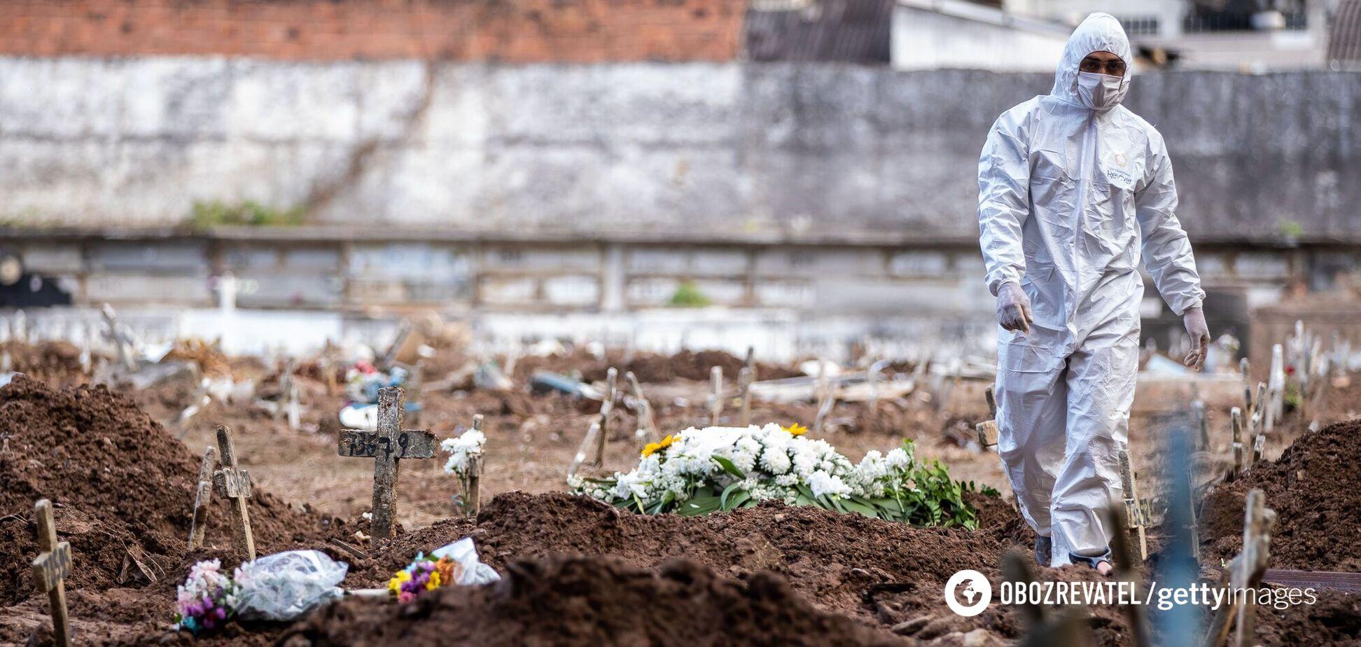 У Бразилії виник колапс через COVID-19: люди вмирали на ношах, на кладовищі – черги