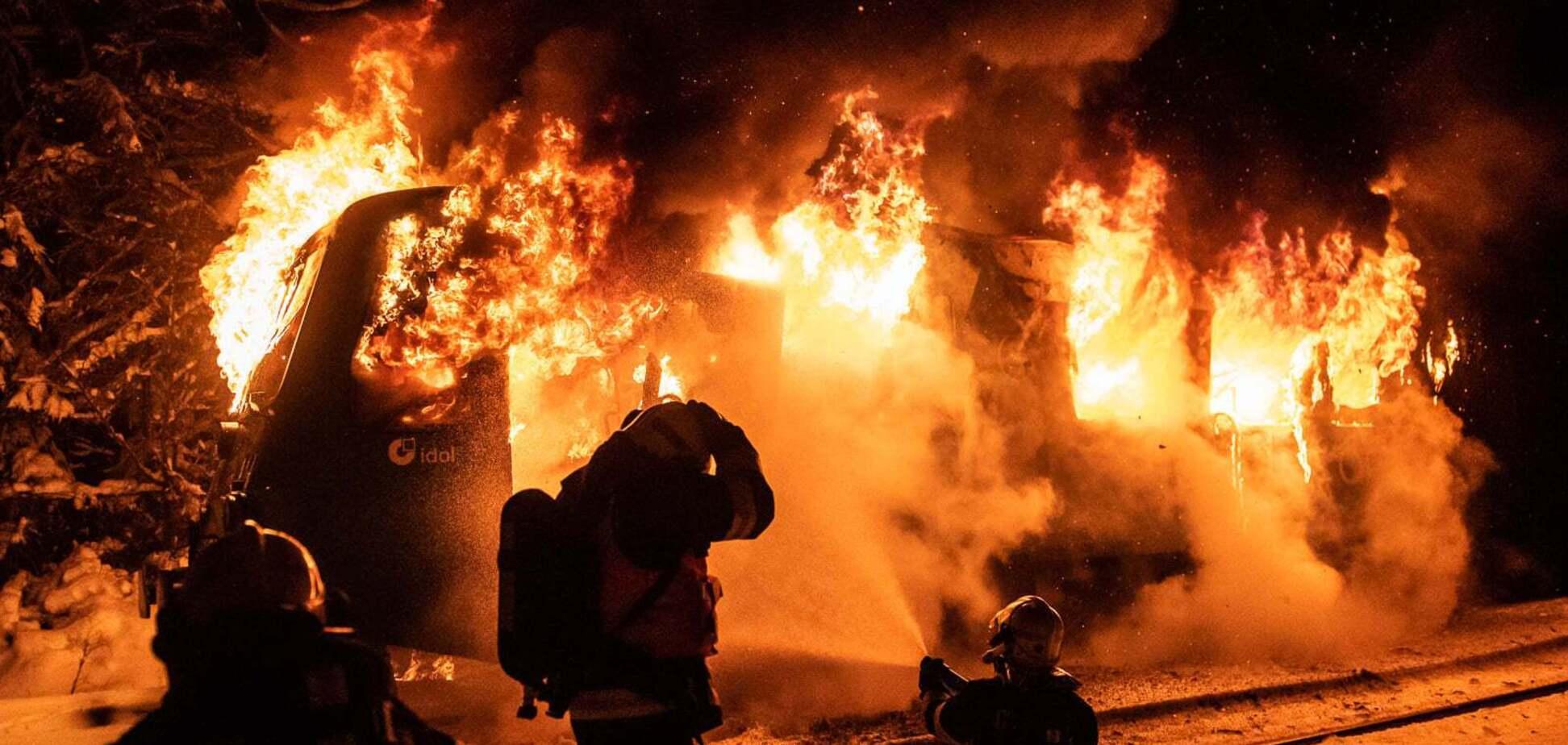Пожар в поезде в Чехии