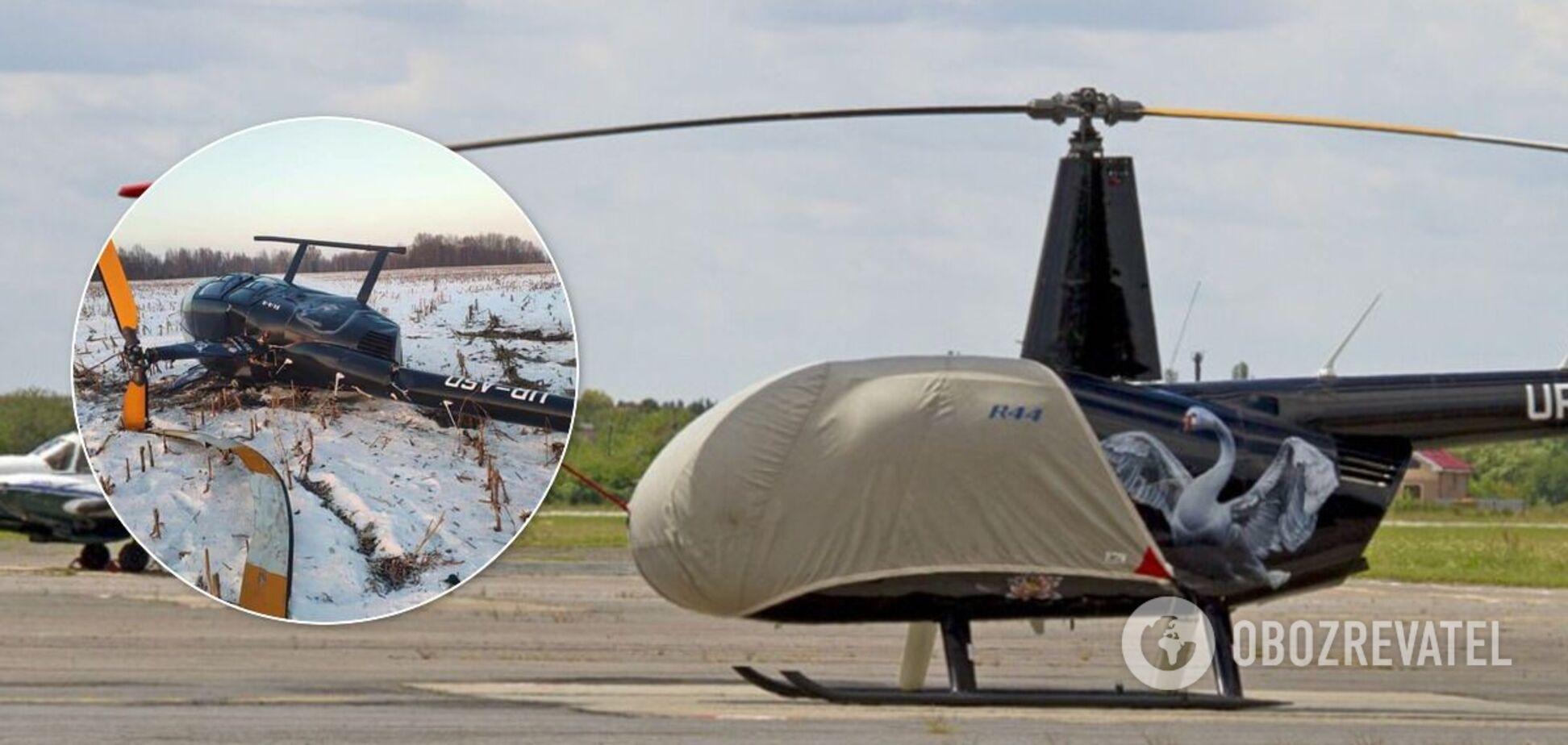 Вертолет разбился в районе Борисполя