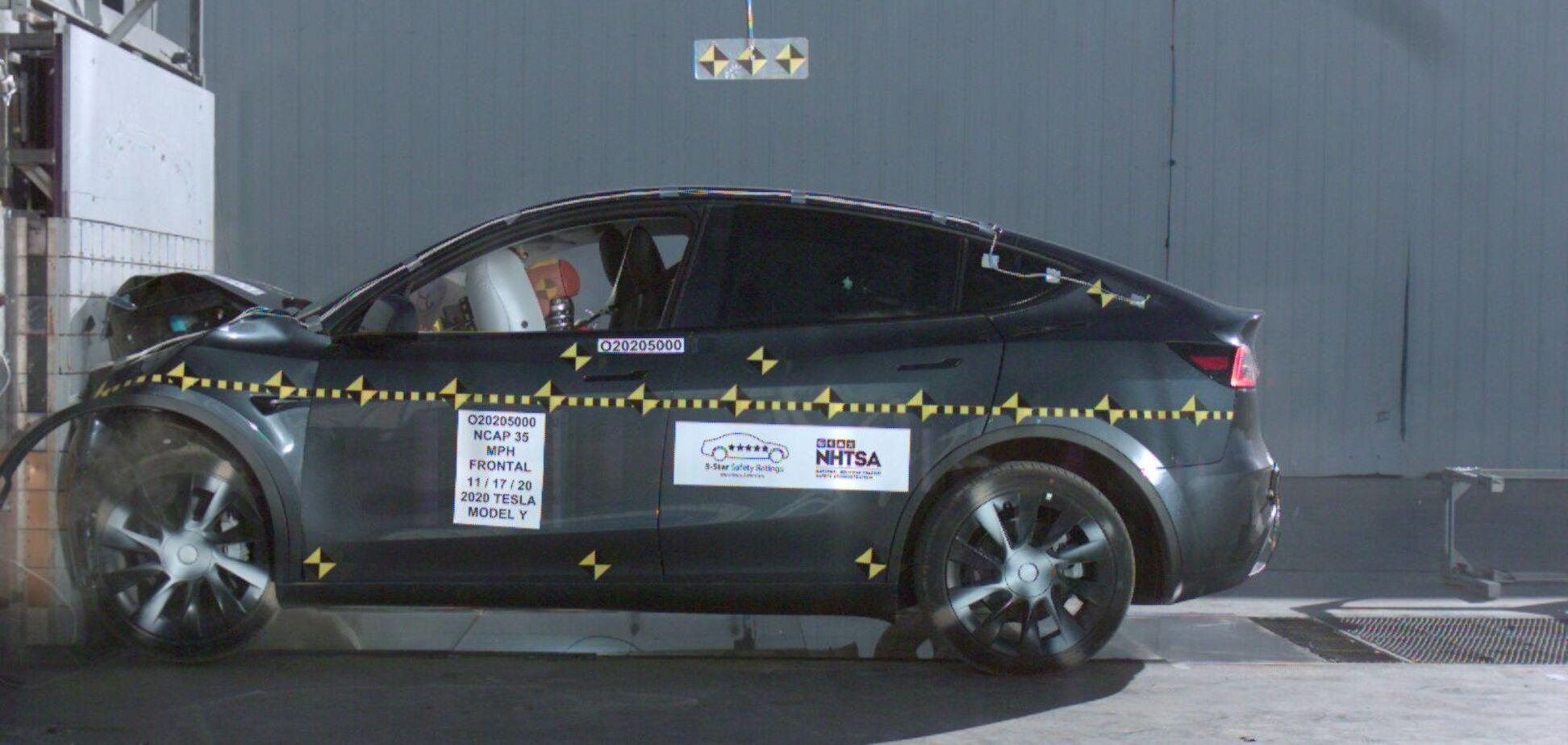 Tesla Model Y отримала високі оцінки за безпеку
