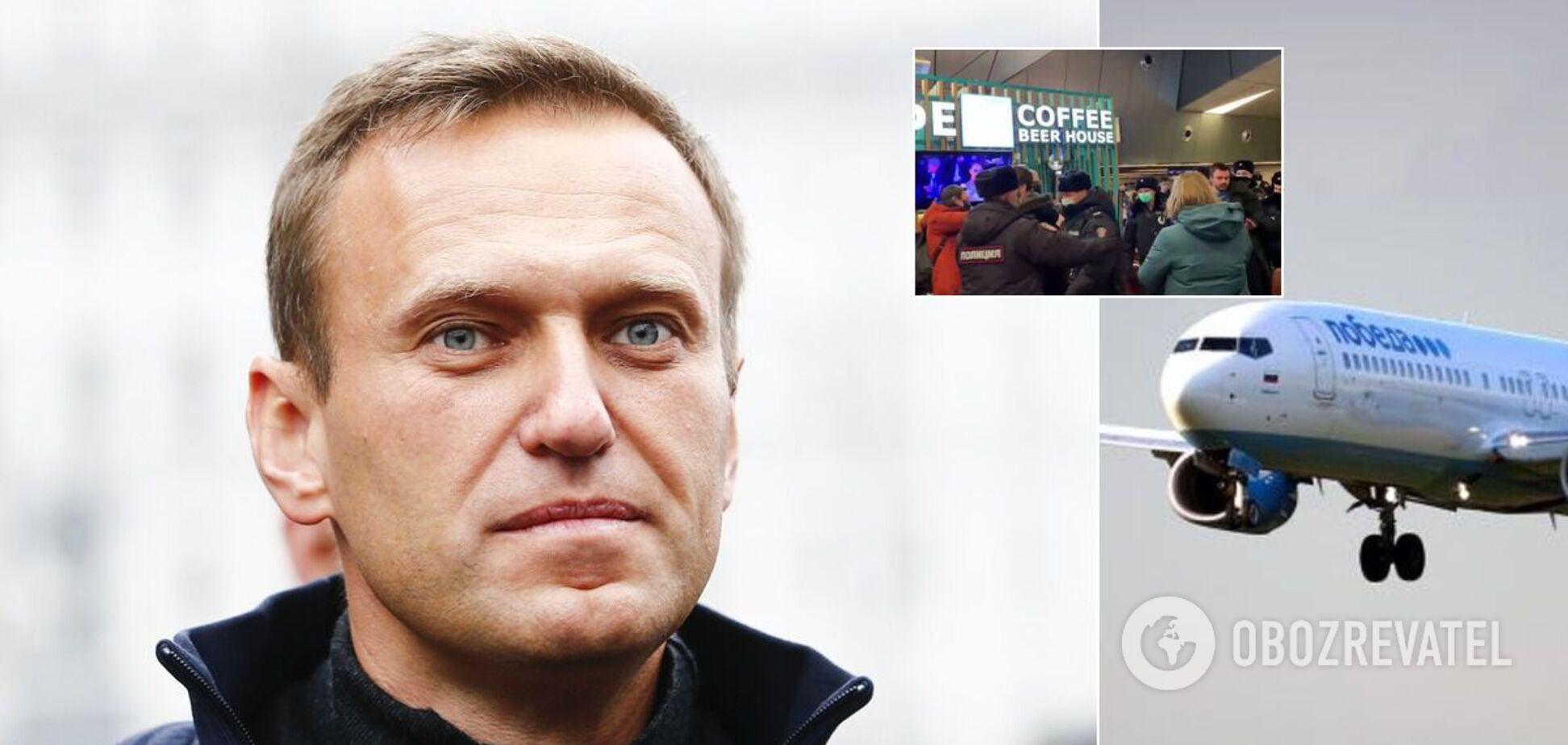 Навальный вернулся в Россию, его задержали прямо в 'Шереметьево': все подробности, фото и видео