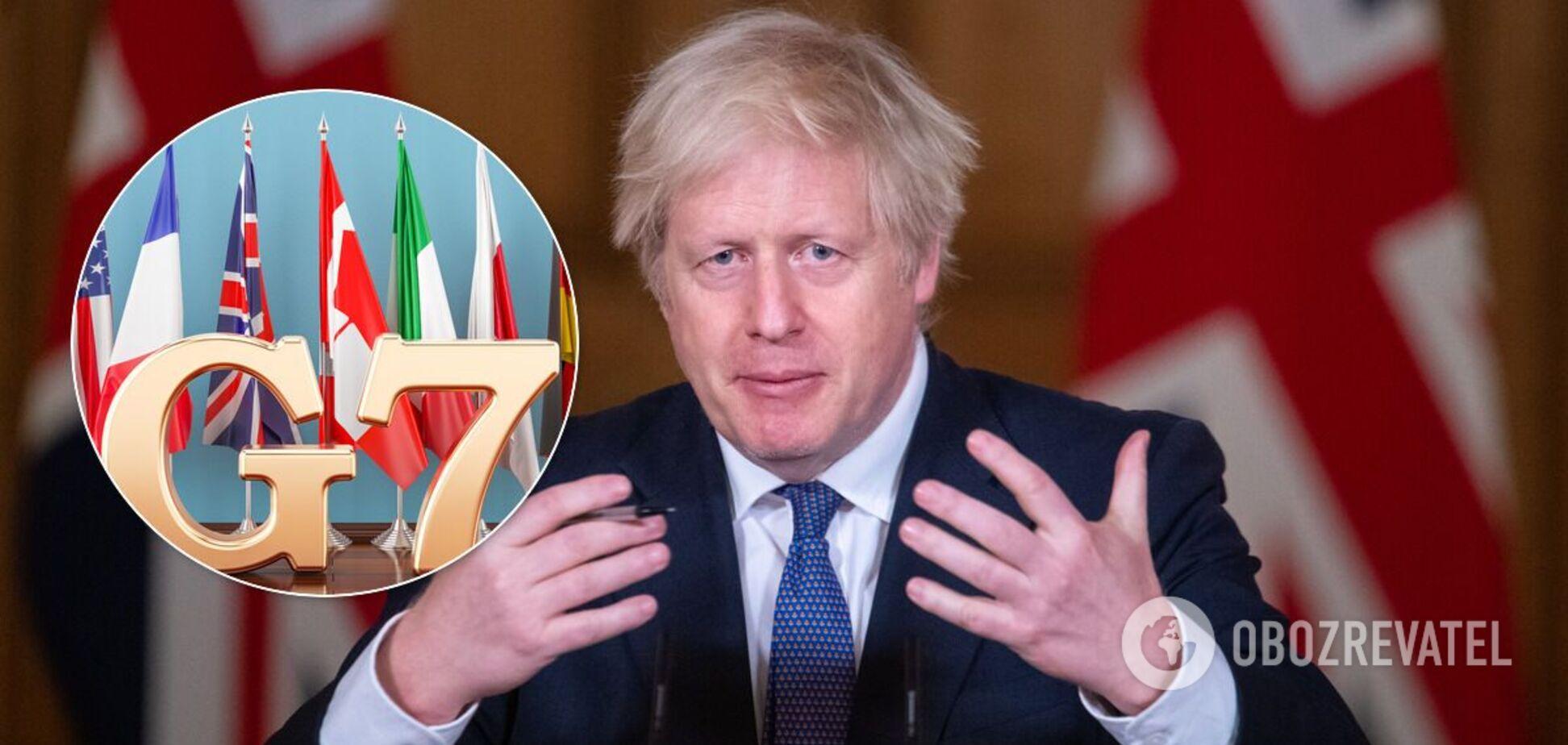 Джонсон оголосив про саміт G7