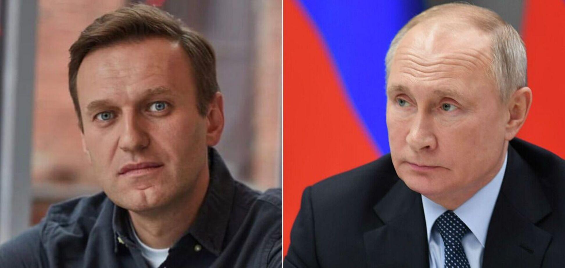Олексій Навальний та Володимир Путін