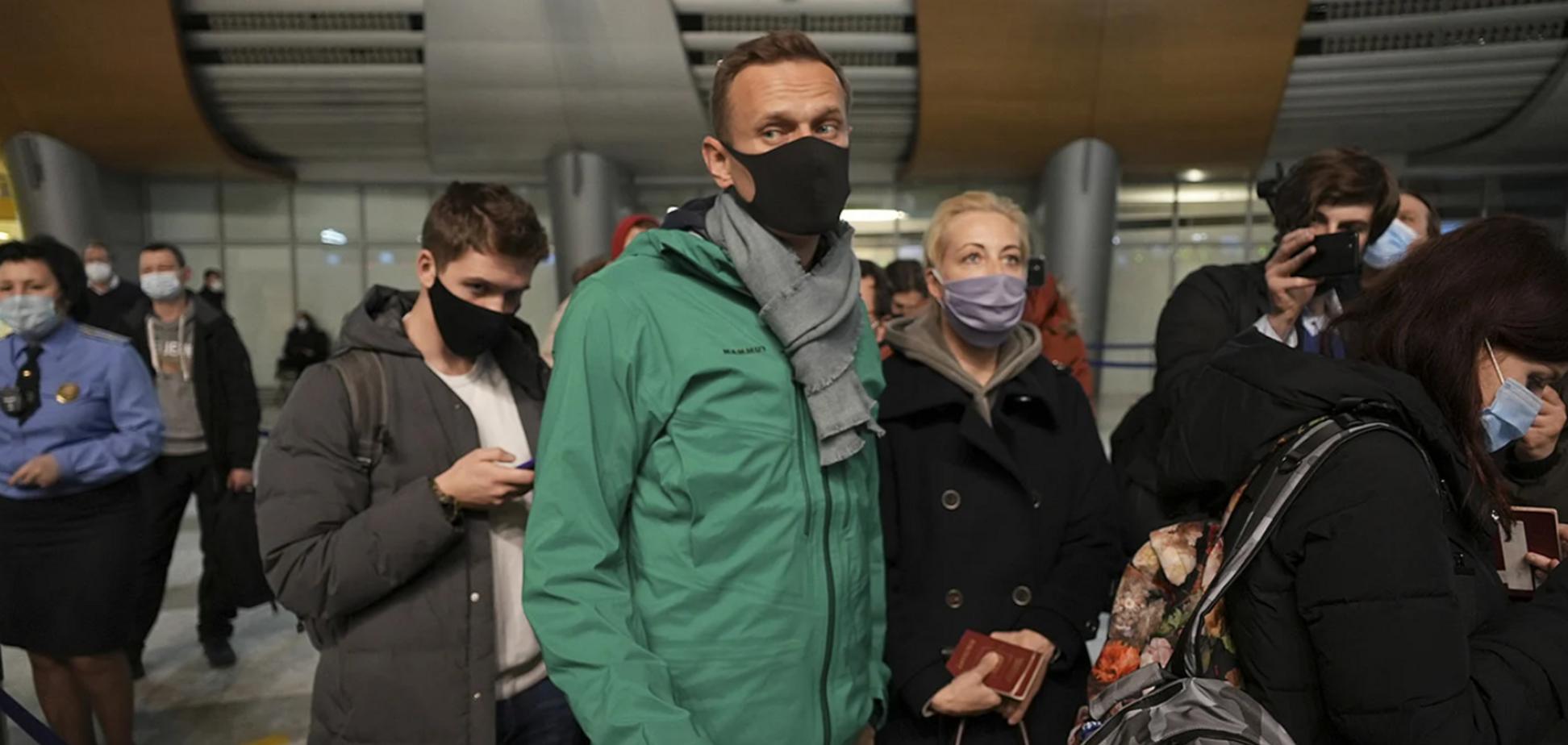 Навальний і його дружина Юлія в аеропорту 'Шереметьєво'