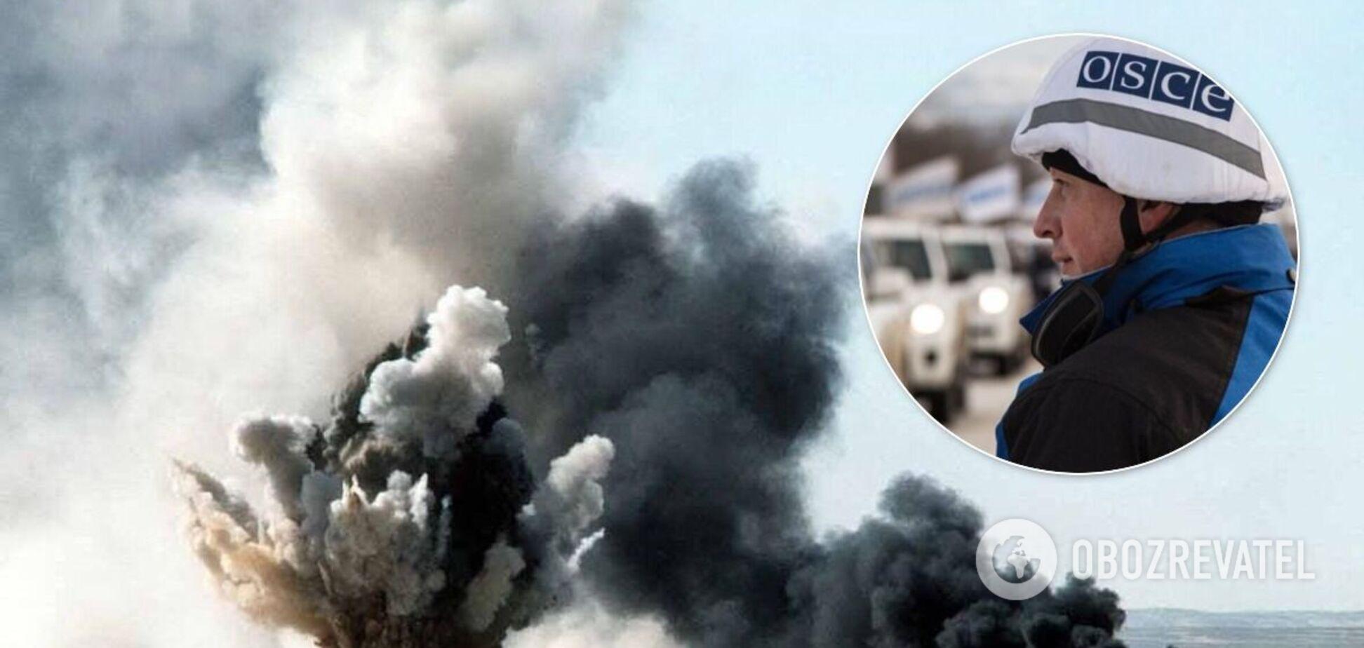 В ОБСЕ сообщили о неизвестных взрывах на Донбассе и 90 случаях нарушения 'тишины'. Карта