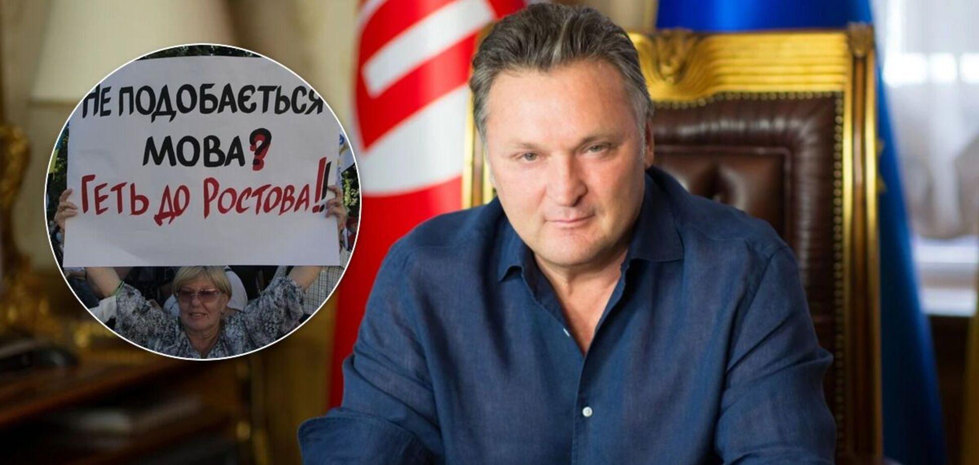 Балашов обізвав 'тварюками' людей, які просять перейти на українську