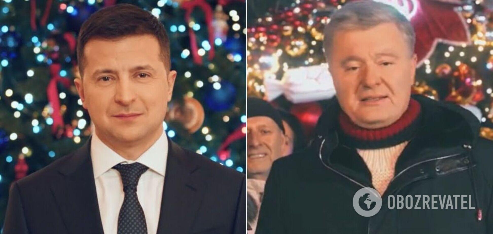 Зеленський і Порошенко привітали з Новим роком