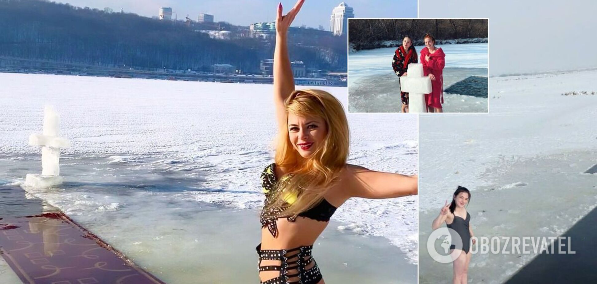 Как украинки ныряли в проруби на Крещение: появились фото красивых девушек