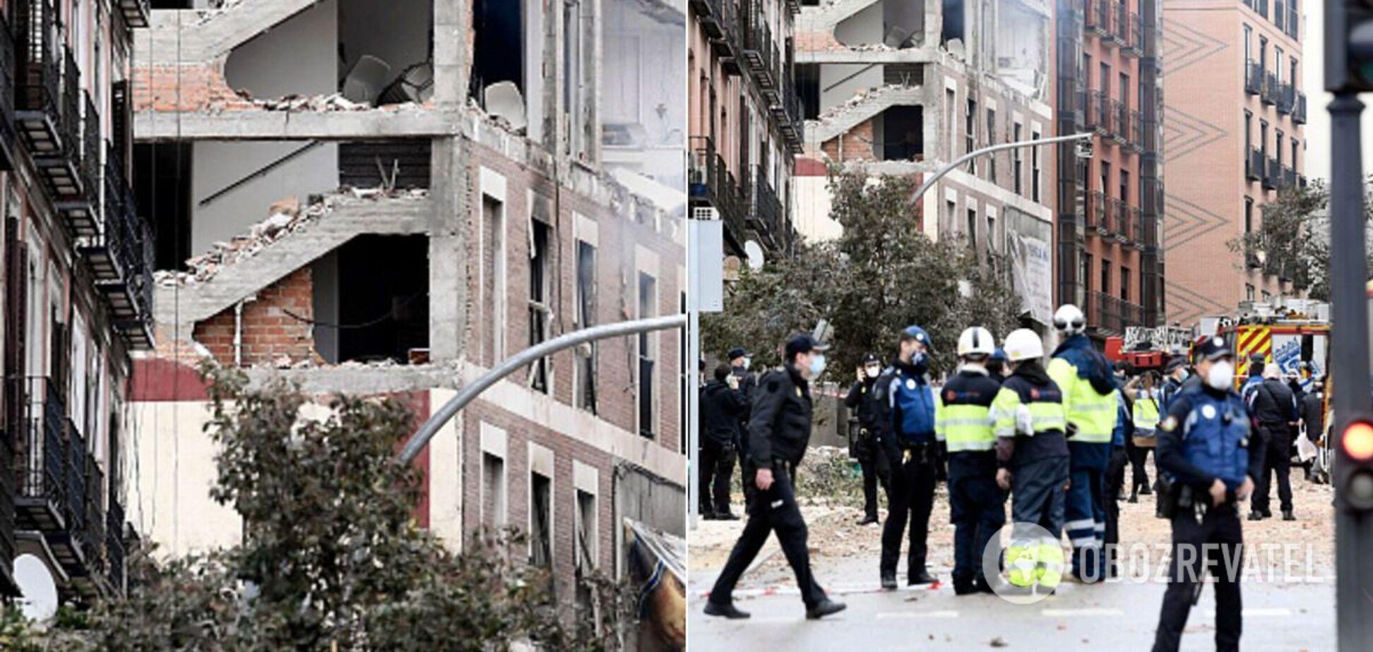 Мадрид содрогнулся от мощного взрыва: фото и видео разрушенной улицы