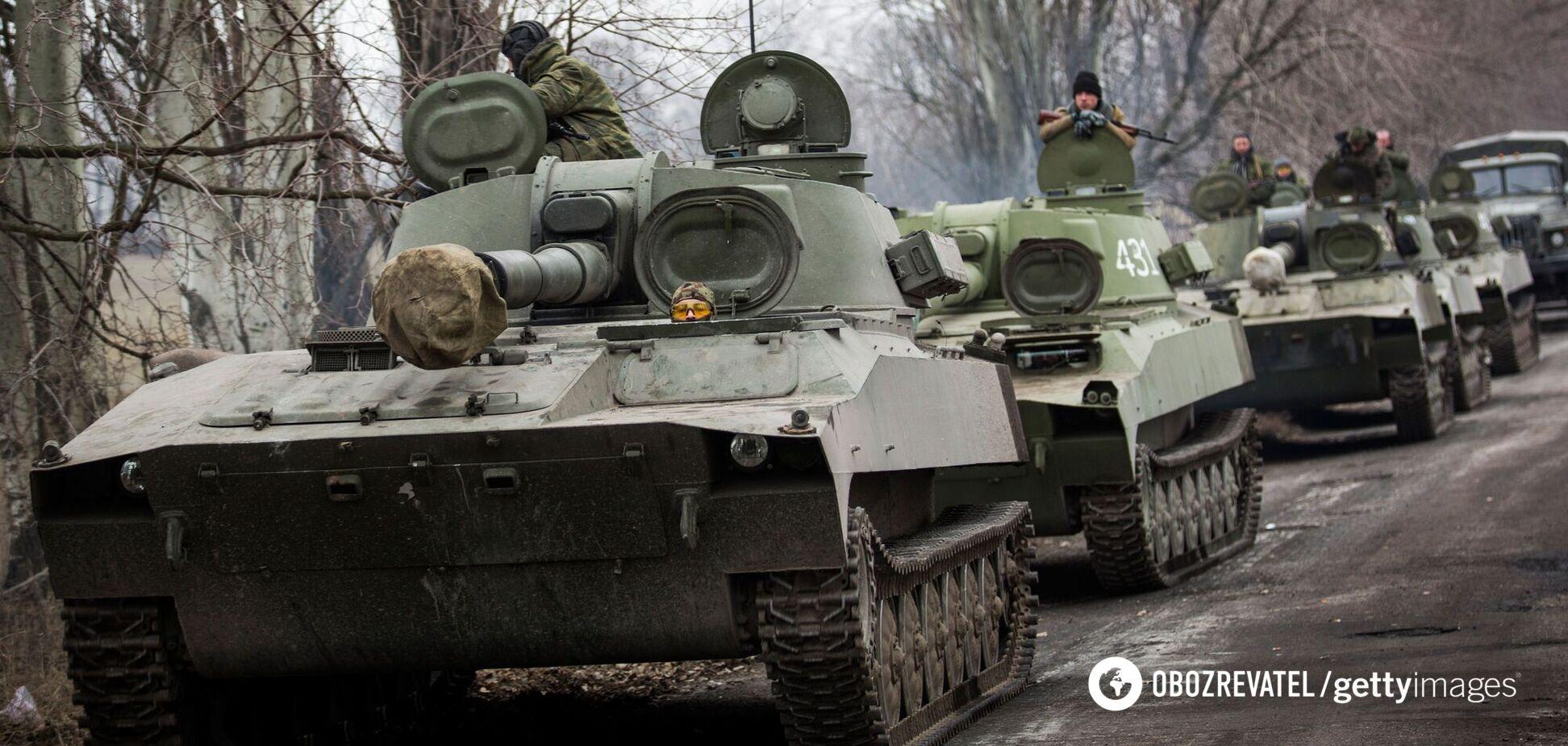 В Луганске сняли российские танки
