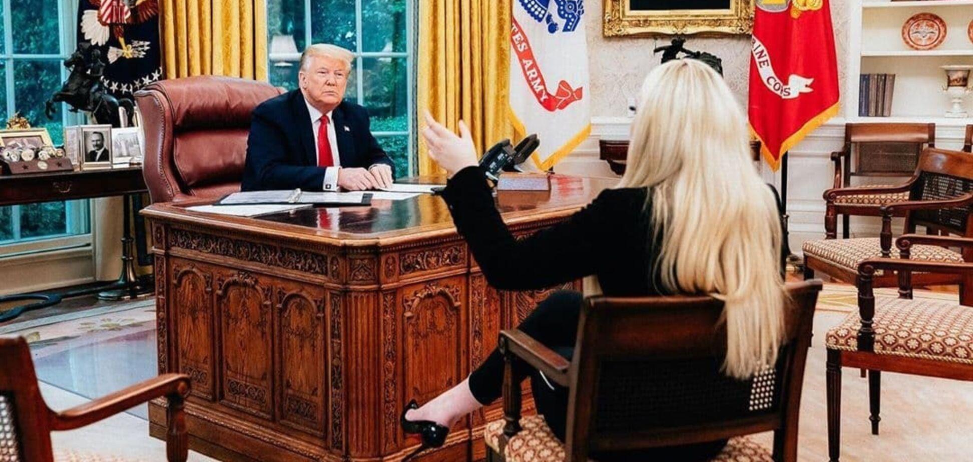 Дональд Трамп с дочерью Тиффани