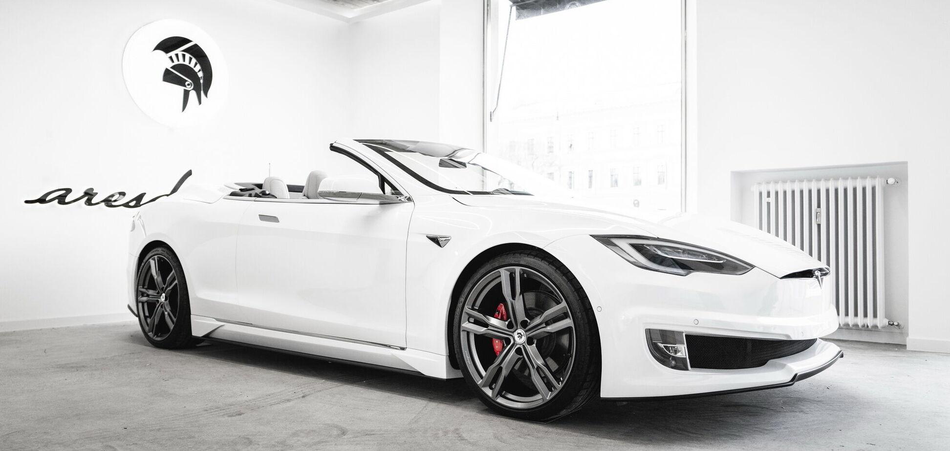 Из Tesla Model S сделали двухдверный кабриолет