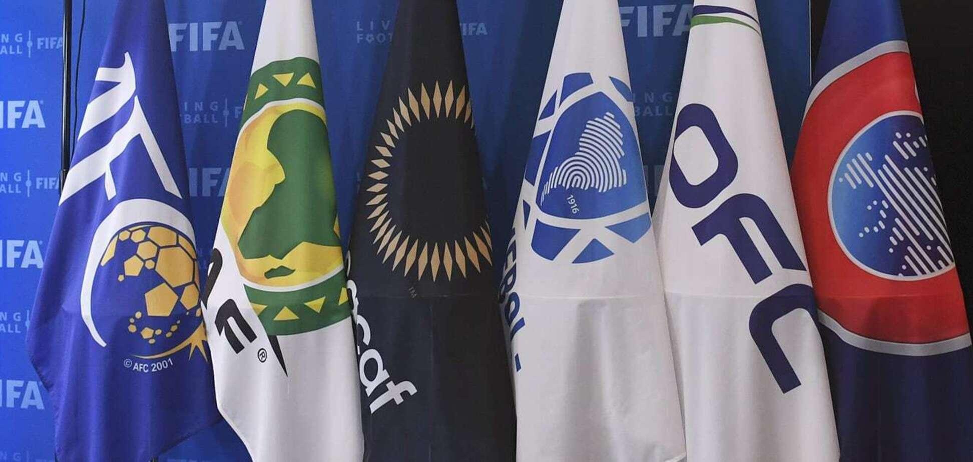 Флаги конфедераций, которые входят в ФИФА