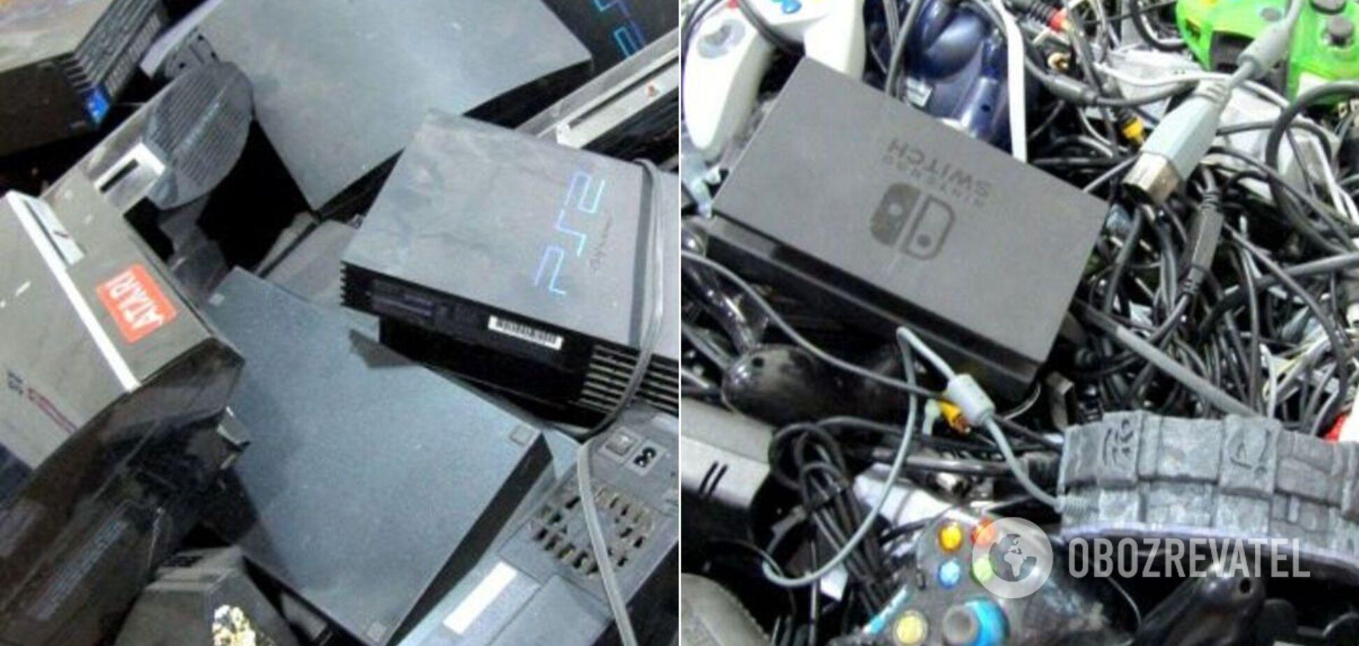 На продажу выставили 400-килограммовый ящик со старыми Playstation. Фото