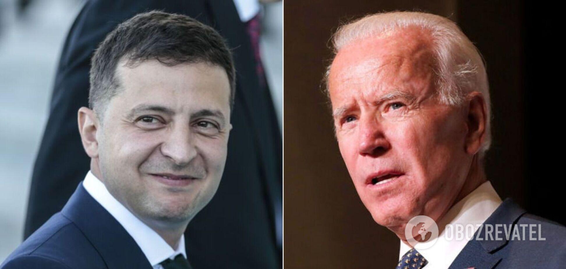 Президенты Украины и США Владимир Зеленский и Джо Байден
