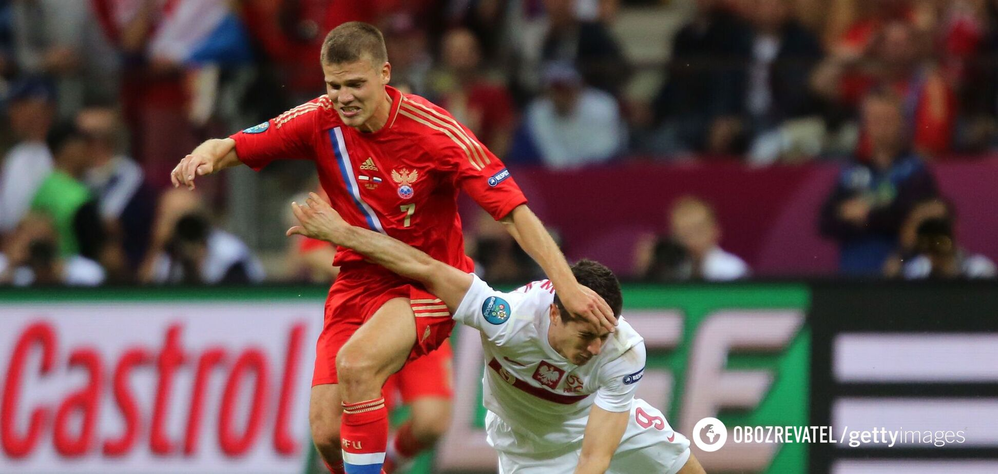Игорь Денисов (слева) на Евро-2012