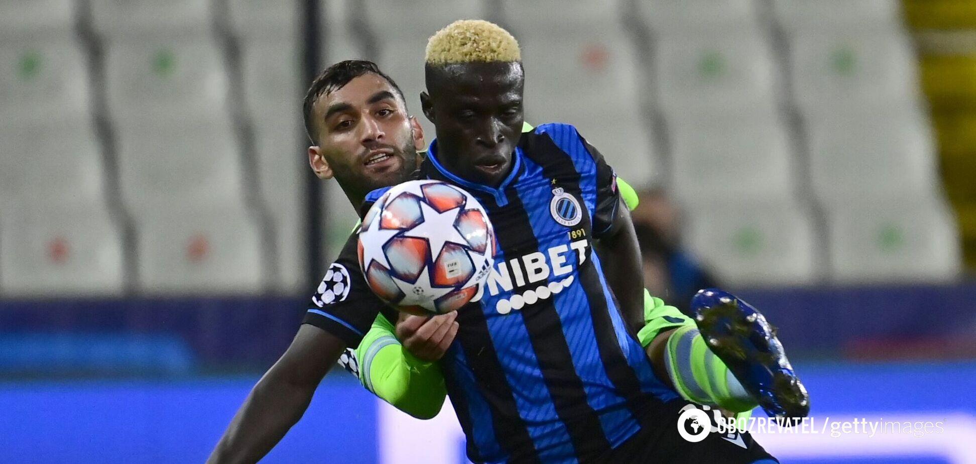 Крепин Диатта в матче Лиги чемпионов против 'Лацио'